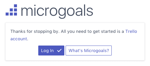 Microgoals Sign-up Page Image
